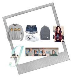 """""""Untitled #89"""" by alicelynch on Polyvore featuring Polaroid, adidas and Herschel Supply Co."""