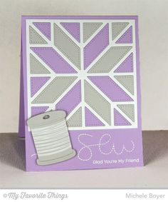 Stitched with Love stamp set and Die-namics, Quilt Square Cover-Up Die-namics - Michele Boyer #mftstamps