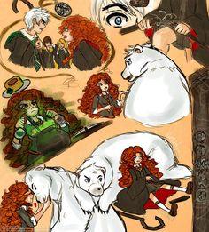(Fan art) Merida, Rapunzel, Jack et Hiccup - The Big Four - Page 23