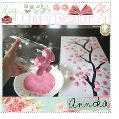 """DIY ; Cherry Blossom Art ♥"" by tipandadvicegoddessess on Polyvore"