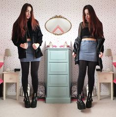 More looks by Amelia  Breading: http://lb.nu/heartshapedrose  #edgy #grunge