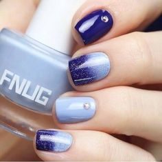 Blue nails ideas 2016, Cool nails, Dark blue nails, Dusty nails, Luxurious…