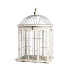 Dekoobjekt Vogelkäfig Tannenholz weiß ca H:54 cm