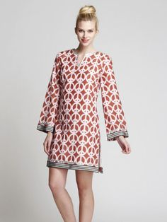 The Beatrice Mini tunic in Brown Peace by Jules Reid