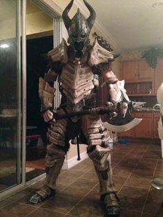 Nordy: Skyrim Dragon Bone Armor Made In Real Life