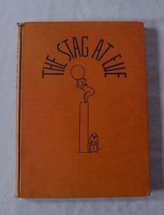 AWESOME Vintage 1931 The Stag at Eve Risque Book Sexy Cartoon Drawings