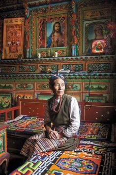 Faces of Tibet- Maria, a Catholic, lives with her husband, a Buddhist, in Yargading village, Markam county. Tibet's unique Christianity has deep roots in the village.