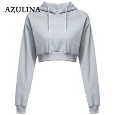 91ad2812c2a AZULINA Hoodie Sweatshirt Women Winter Pullover 2018 Autumn New Fashions  Casual Black Crop Top Ladies Tops Hoodies Girls Clothes-in Hoodies    Sweatshirts ...