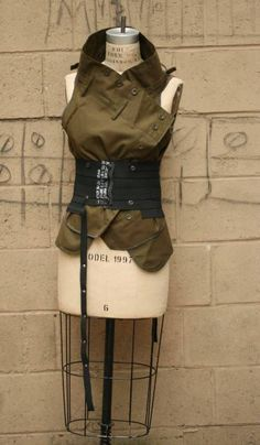 Patricia Ayres upcycled vest...from a pair of trousers. Nice