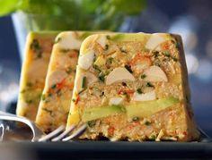 Voir la recette de la terrine de légumes grillés et mozzarella