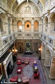 The library at Highclere Castle, where the PBS series Downton Abbey is filmed