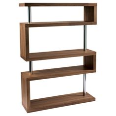 Contour wide shelving walnut