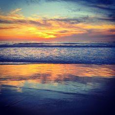 Sunset over Carmel Beach