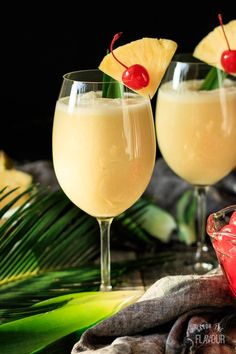 Non Alcoholic Piña Colada: whip up this easy tropical drink for kids of all ages to enjoy at your next party. Cream of coconut, crushed pineapple, and pineapple juice mixed with ice is so refreshing on a hot day. Whether you are sitting on the beach o Mocktail Drinks, Drink Recipes Nonalcoholic, Non Alcoholic Cocktails, Fruit Drinks, Refreshing Drinks, Summer Drinks, Healthy Drinks, Non Alcoholic Pina Colada Recipe, Food And Drinks