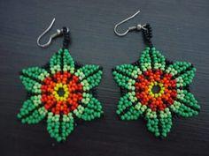 Beaded Tassel Earrings, Seed Bead Earrings, Beaded Earrings, Seed Beads, Beaded Jewelry Patterns, Beading Patterns, Bead Jewellery, Bead Art, Beaded Flowers