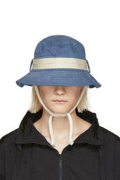 Acne Studios Blå Konst - Blue Sun Sun Bucket Hat