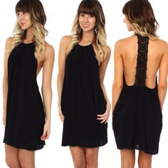 "In LOVE with this new ""Crochet back LBD"" ($39.99) available at #4thandocean and online at www.sophieandtrey.com! #freeshipping #newarrival #dress #boutique"