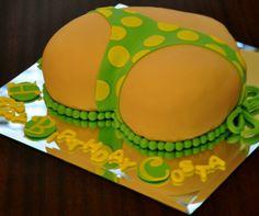 Naughty cakes. Underwear and Thongs #cakeart #SweetCornerNYC #3DCakes #birthdaycakes #fondantcakes