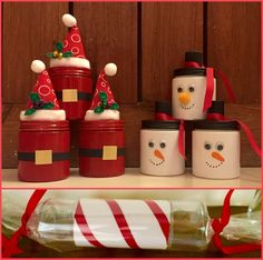 Diy Christmas gifts ... Fill them with candy!