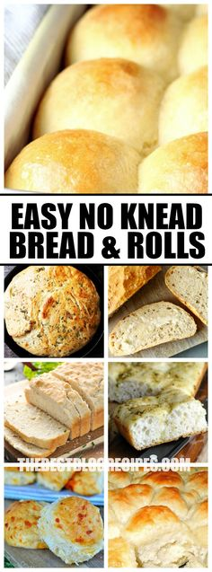 Easy No Knead Bread and Rolls make the perfect dinner side dish or appetizer when you want to serve up something hot and delicious but don't feel like spending all day long in the kitchen! via @bestblogrecipes