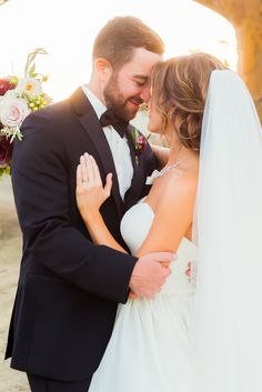 Love this love! View the full wedding here: http://thedailywedding.com/2015/12/19/classy-sunstone-winery-wedding-dave-morgan/