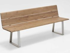 Niehoff Gartenbank Nova Edelstahl Teak-Recycled kaufen im borono Online Shop
