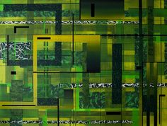 Green zone, schilderij van Chrizys Art, Christian van Hedel | Abstract | Modern | Kunst