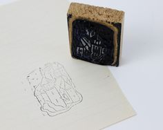 Bonjour,  This is a vintage French rubber stamp with lovely castle. - DETAILS -  - Authentic french vintage - 1950s - In good vintage condition - Made of rubber glued on wooden base - You can also use them for scrapbooking  - MEASUREMENTS - 1.57 in x 2.16 in 4 cm X 5.5 cm Weight unpacked : 0.05 lbs / 0.022 kgs - EXPLORE -  Find other vintage rubber stamps : https://www.etsy.com/shop/ohlalacamille?ref=hdr_shop_menu&search_query=rubber+stamp  Return to Ohl...