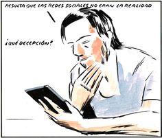 """. """"La realidad de las redes sociales"""" (El Roto) ."""