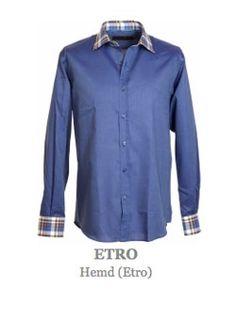 Hemd vom italienischen Luxusmodelable Etro. Langärmeliges, leicht tailliert geschnittenes Oberhemd mit klassischem Kragen und durchgehender Knopfleiste. Hemdkragen und Manschetten in kontrastfärbigem Stoff, karriert gemustert  Knöpfe sind mit einem Etro Markenlogo geprägt. Material:  100% Baumwolle