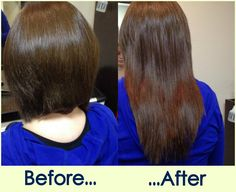 before and after pictures of Hot Heads Hair Extensions by Jessica