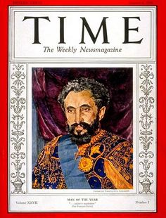 Haile Selassie on the Cover of Time Magazine