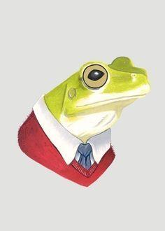 Etsy の Frog print 5x7 by berkleyillustration