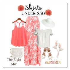 """""""Skirts Under $50 ~ For Polyvore"""" by victorianheaven ❤ liked on Polyvore featuring New Look, Under One Sky, Canvas by Lands' End, BEA, Target, Summer, skirts, under50 and skirtunder50"""