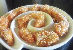 Kínai mézes-szezámmagos csirkemellfalatok Top 5, Pretzel Bites, Meat Recipes, Doughnut, Sausage, French Toast, Menu, Tasty, Bread