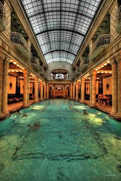 The Gellert Baths, Budapest, Hungary We went to these incredible baths Sept 2006 Amazing! http://abnb.me/e/1Bw4yfnlSC