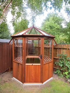 Octagonal Cedar Greenhouse