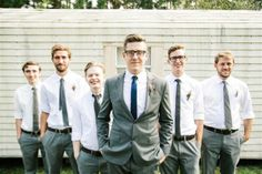Great looking and groom and groomsmen in grey! Taken by our photographer Ashley W.