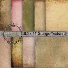 Digital Grunge Papers Digital Grungy Textures by digitalpaperetc