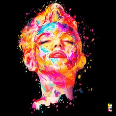 Marilyn Monroe Artwork Made by Graphic Artist: Alessandro Pautasso