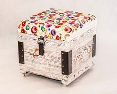 Wooden pouf Toy Chest, Storage Chest, Kids Room, Decorative Boxes, Sweet Home, Folk, Cabinet, Antiques, Diy