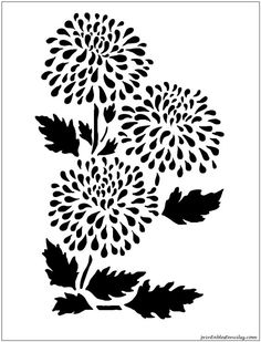 LOTS OF Printable Stencils Check out the website to see Stencil Templates, Stencil Patterns, Stencil Diy, Stencil Designs, Printable Stencils, Wall Stenciling, Flower Stencils, Scroll Saw Patterns Free, Arte Tribal
