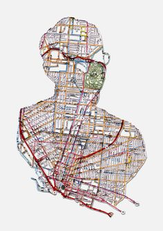Nikki Rosato, Nathan: Buffalo, NY, Hand cut road map, Artists that use or make maps. Paper Collage Art, Collage Drawing, Teaching Maps, Map Artwork, Map Projects, Conceptual Drawing, A Level Art, Gcse Art, Science Art