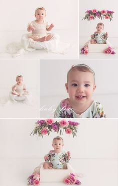 Princess-Dreams Mädchen Baby Haarband 64 Blume rosa Babyfotografie Props