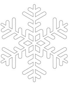 Snowflake template.