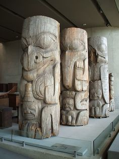 totems at the Museum of Anthropology in Vancouver