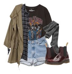 """Untitled #1896"" by feathersandroses ❤ liked on Polyvore featuring Gap, 6397 and Dr. Martens"