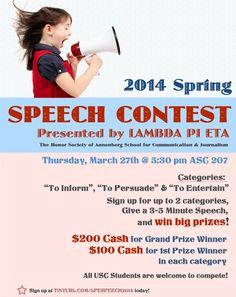 Horrible english speech contest?
