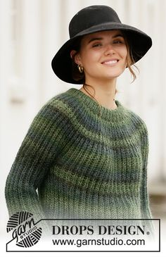 Ravelry: Winter Willow pattern by DROPS design Knitting Patterns Free, Knit Patterns, Free Knitting, Cardigan Au Crochet, Knit Crochet, Drops Design, Knitting For Beginners, Knitwear, Winter Outfits