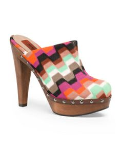 Square Printed Clogs